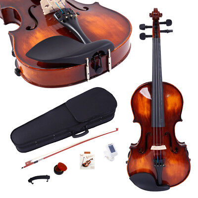 4/4 Elegant Classic Solid Wood Violin Set w/ Accessories for Beginner