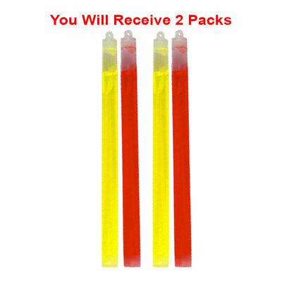 4x Glow Sticks Premium Emergency Roadside Light Sticks Non-Toxic  10 inch