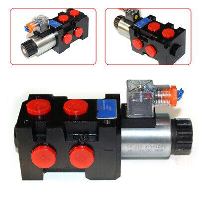 Hydraulic 6port Solenoid Diverter Selector Valve Hsv6-c 12v 13gpm 1-spool Usa 1