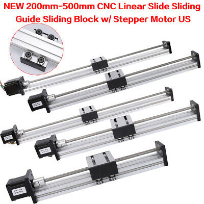 200-500mm Cnc Linear Slide Motion Rail Guide Stage Actuator 4257 Stepper Motor