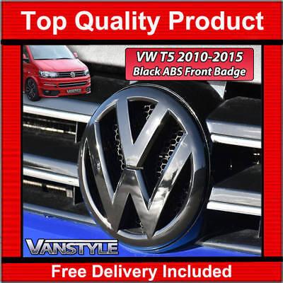 VW TRANSPORTER T5 BLACK FRONT RADIATOR GRILLE BADGE 2010-2015 T5.1 NOT CHROME