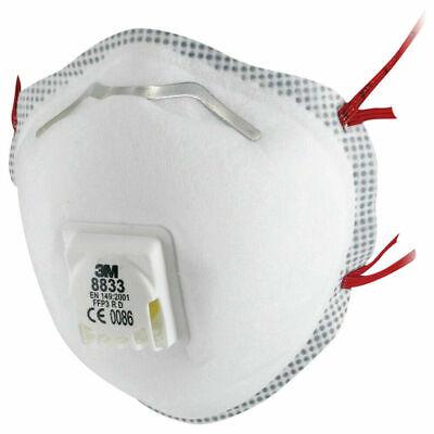 2x 3M 8833 FFP3 R D Atemschutzmaske mit Ventil Wiederverwendbar Mundschutz Maske