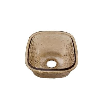 "JSG Oceana 009-009-120 Heavy Duty 16.5"" Glass Undermount Kitchen Sink, Fawn"