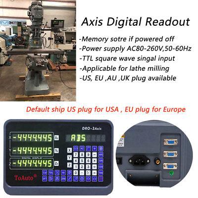 2axis3axis Mill Digital Readout Dro Displayttl Linear Scale Encoder Set 2year
