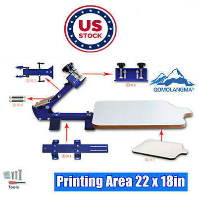 Us Stock Manual1 Color 1 Station Diy T-shirt Silk Screen Printing Press Machine
