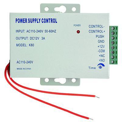 Power Supply Door Access Control System RFID EM Keypad Access 12V Control K80 US
