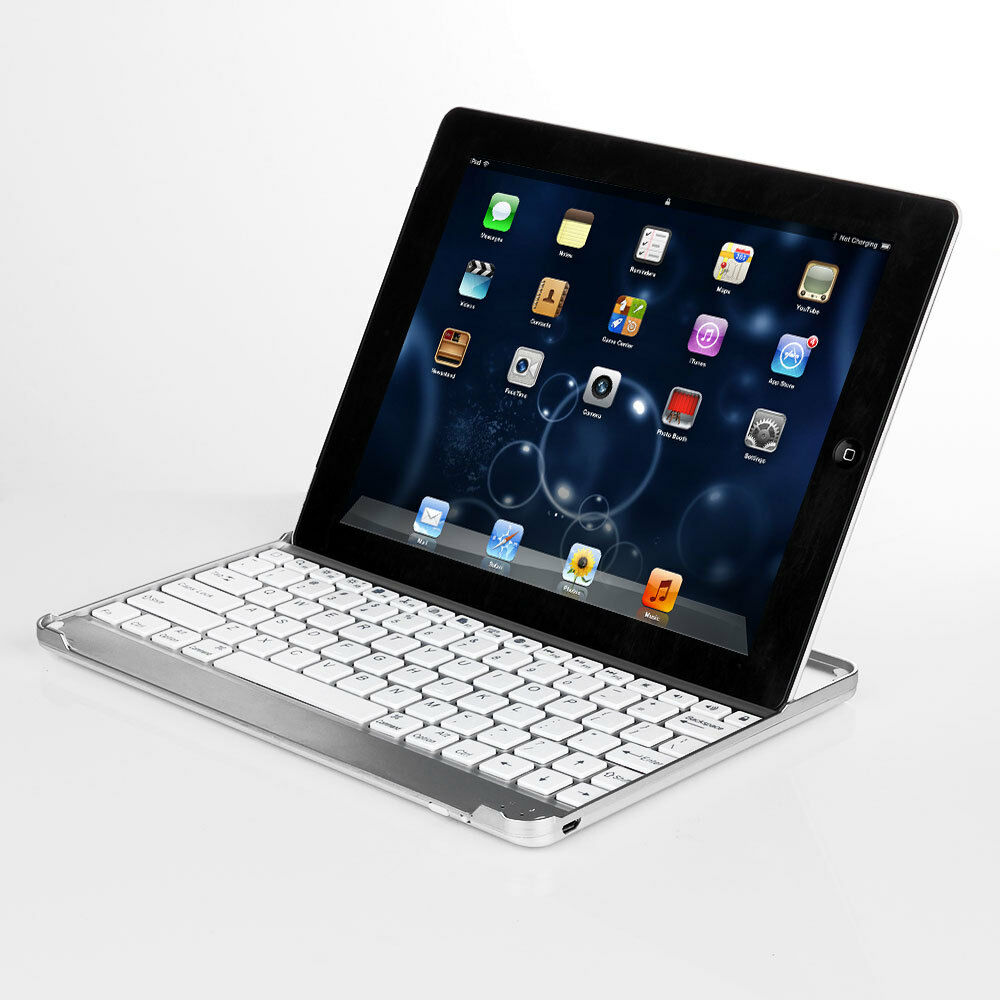 apple ipad pro air mini aluminum bluetooth wireless keyboard cover case stand ebay. Black Bedroom Furniture Sets. Home Design Ideas