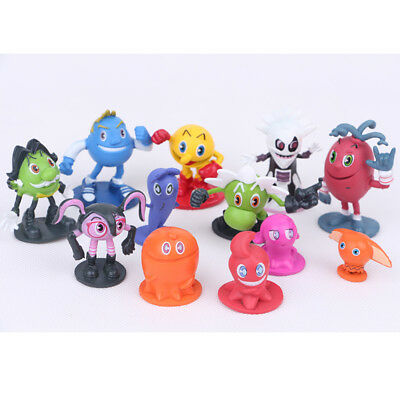 PAC-MAN And The Ghostly Adventures 12 PCS Cake Topper Action Figure Kid Gift Toy