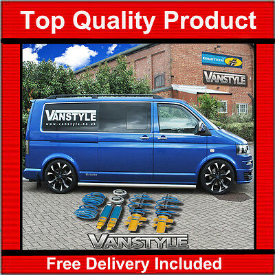 Used, VW TRANSPORTER T5 HEIGHT ADJUSTABLE COILOVERS BILSTEIN B14 LOWERING SET T32 for sale  Newark