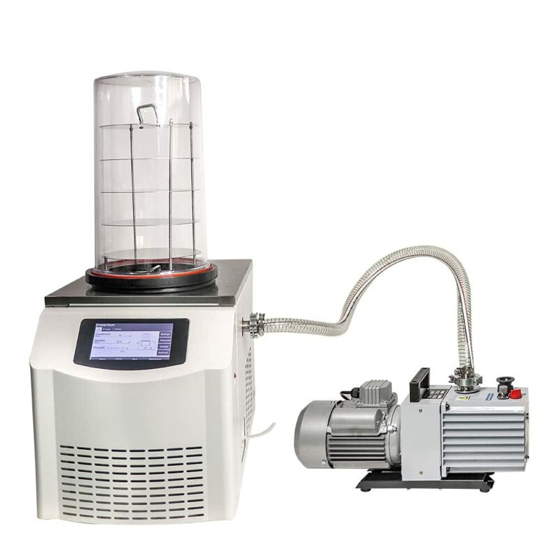 Lab Freeze Dryer Lyophilizer Sublimation Freezing Drying Oven with Vacuum Pump
