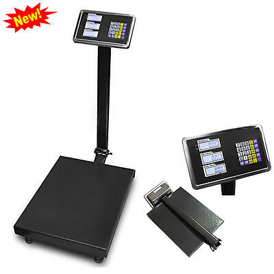 600 Lb Weight Computing Postal Scale Digital Floor Platform Warehouse Shipping
