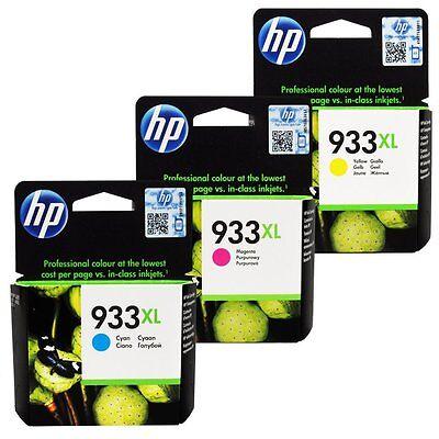 HP Genuine 933XL (C,M,Y) Set of 3 Ink Cartridges in Retail Box