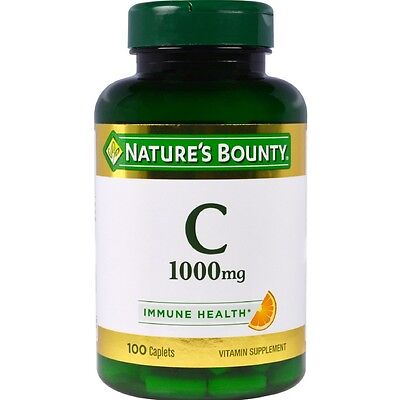 Natures Bounty Vitamin C 1000 Mg Immune Health Caplets 100 Ea