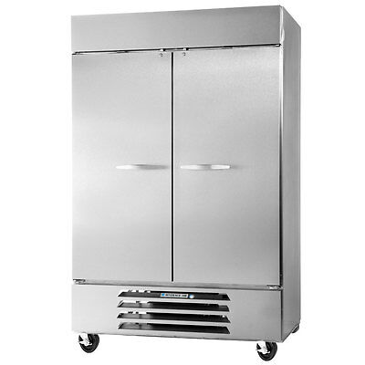 Beverage-Air RB49HC-1G 49cf Two Glass Door S/s Reach-In Refrigerator