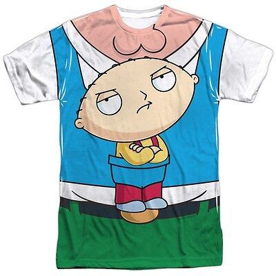 Family Guy Stewie Carrier Costume Outfit Uniform Allover Front T-shirt TV Show