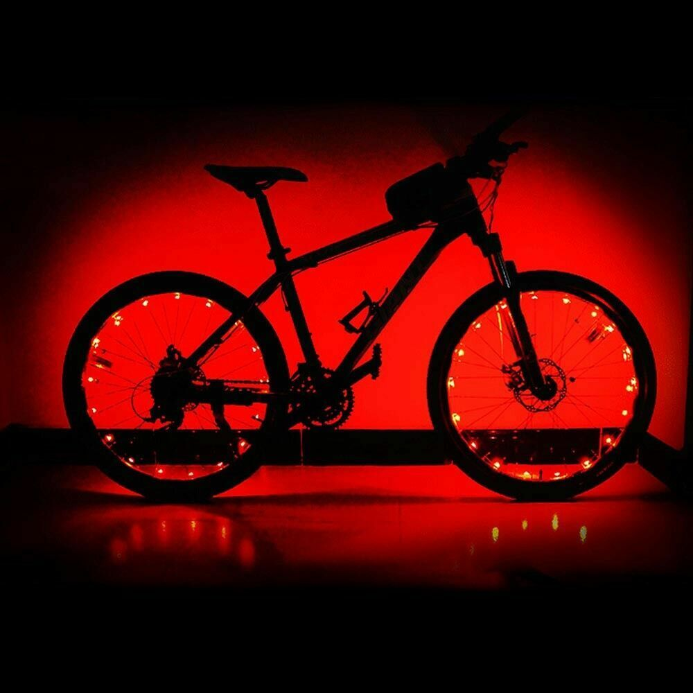 LED Bicycle Bike Cycling Rim Lights Auto Open & Close Wheel Spoke Light String Bicycle Accessories