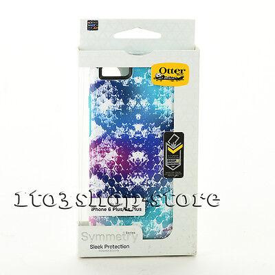 OtterBox SYMMETRY Case for iPhone 6 Plus iPhone 6s Plus Aqua Blue/Under My Skin