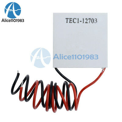 10pcs Tec1-12703 Heatsink Thermoelectric Cooler Cooling Peltier Plate Module