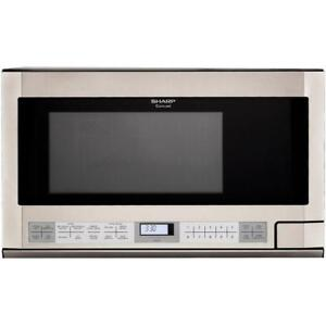 SHARP CAROUSEL OVER-THE-COUNTER MICROWAVE OVEN 1.5 CU. FT. 1100W BLOWOUT SALE FROM $139.99 no tax