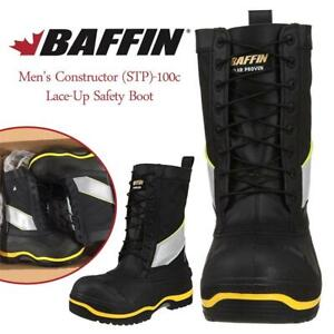 NEW Baffin Mens Constructor (STP)-100c Lace-Up Safety Boot Condtion: New, Black/Hi-Viz, 11 D(M) US
