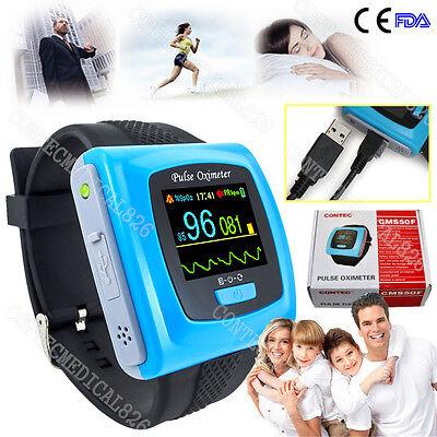 Fdace Watch Pulse Oximeter Usb Wrist Spo2 Pulse 24hours Overnight Sleep Study