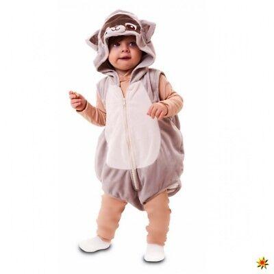 Kinderkostüm Waschbär 80/86 Kurz-Overall Baby Kostüm Tierkostüm Fasching