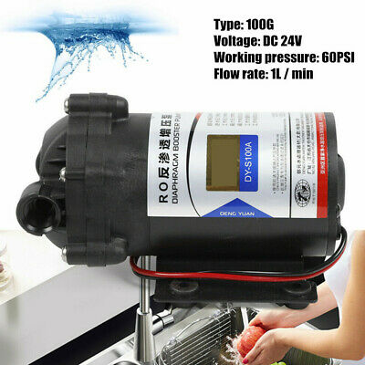 Dc 24v Automatic Booster Pump 60psi Diaphragm Pump For Domestic Water Purifier