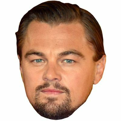 Leonardo Di Caprio Celebrity Mask, Card Face and Fancy Dress Mask