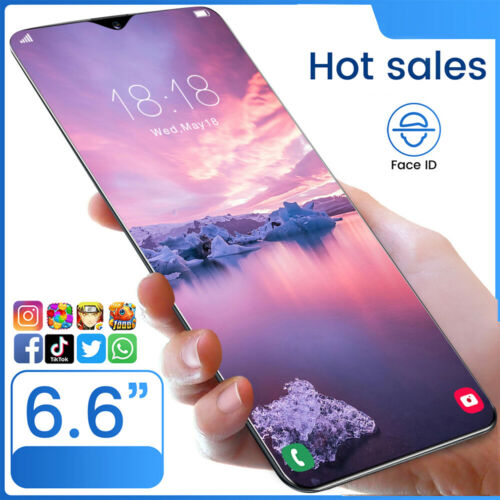 "Android Phone - 6.6"" Dual Sim Quad Core Android Smartphone 1GB+8GB Face Unlocked Mobile Phone 3G"