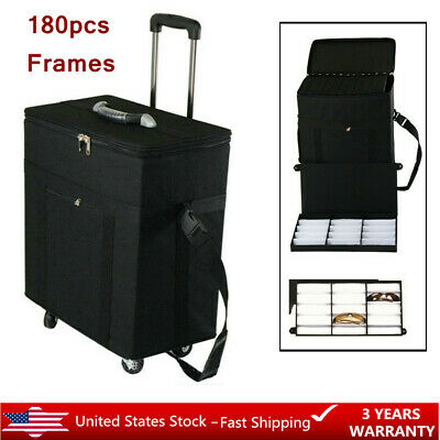 Eyeglasses Optical Frame Reading Glasses Display Case Sample Box Travel Trolley