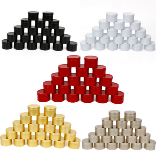 20pcs Candle Tins with Lid for DIY Candle Making/Jewelry Storage Case Containers