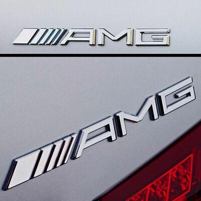 AMG Emblem Logo Chrom Silber Passend für Mercedes C CL CLK SLK