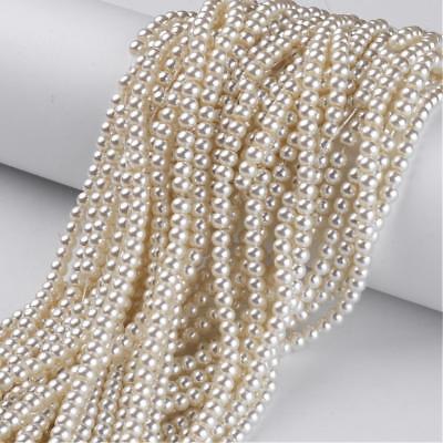 erlen Elfenbein glänzend Glas Perlen Beads (1236) (Elfenbein Perlen)