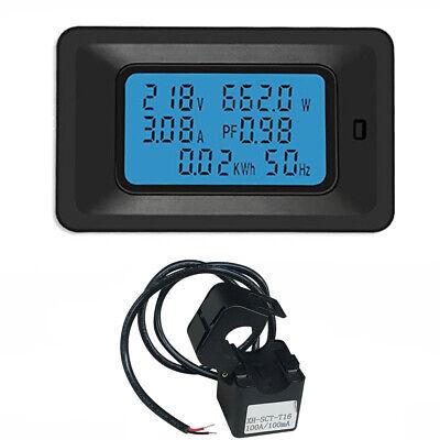 Ac 80260v 100a Power Meter Accurate Voltmeter Ammeter Kwh Watt Energy Meter