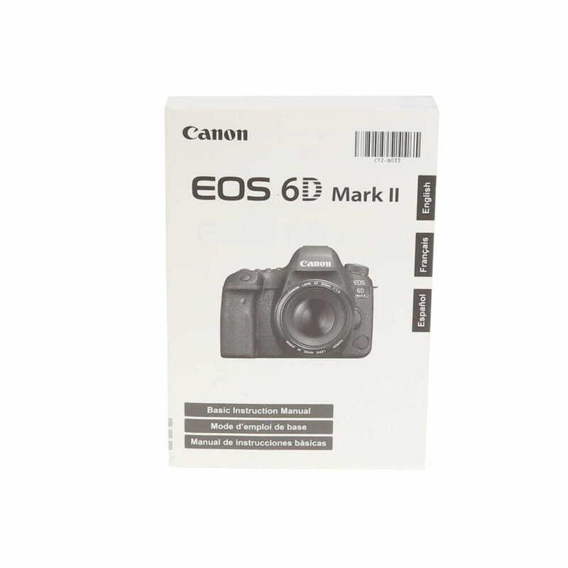 Canon EOS 6D Mark II DSLR Camera Basic Instructions Manual - EX