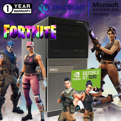 Dell i5 Gaming Desktop Computer 16GB SSD+HDD Fortnite Nvidia 1030 Windows 10 PC