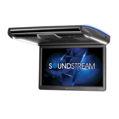 """SOUNDSTREAM 16"""" OVERHEAD LCD MONITOR CAR DVD PLAYER MOBILELINK MIRROR LINK LED"""