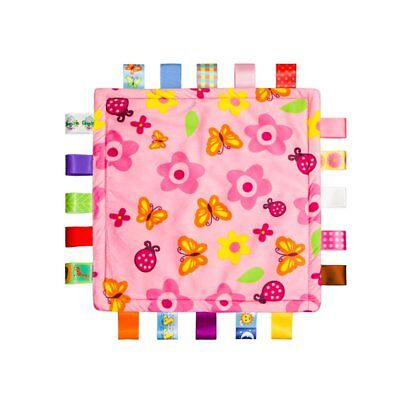 Colorful Ribbons Baby Taggies Blanket Comforter towel, Pink Security Blanket - Colorful Baby