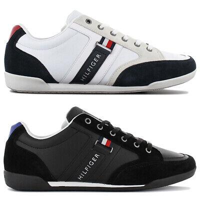 Tommy Hilfiger Corporate Leder Sneaker Herren Freizeit Fashion Schuhe Turnschuhe