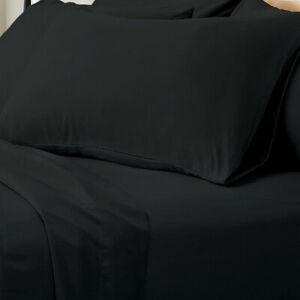 Valeria 1000TC Ultra Soft Super King Bed Sheet Set - Black
