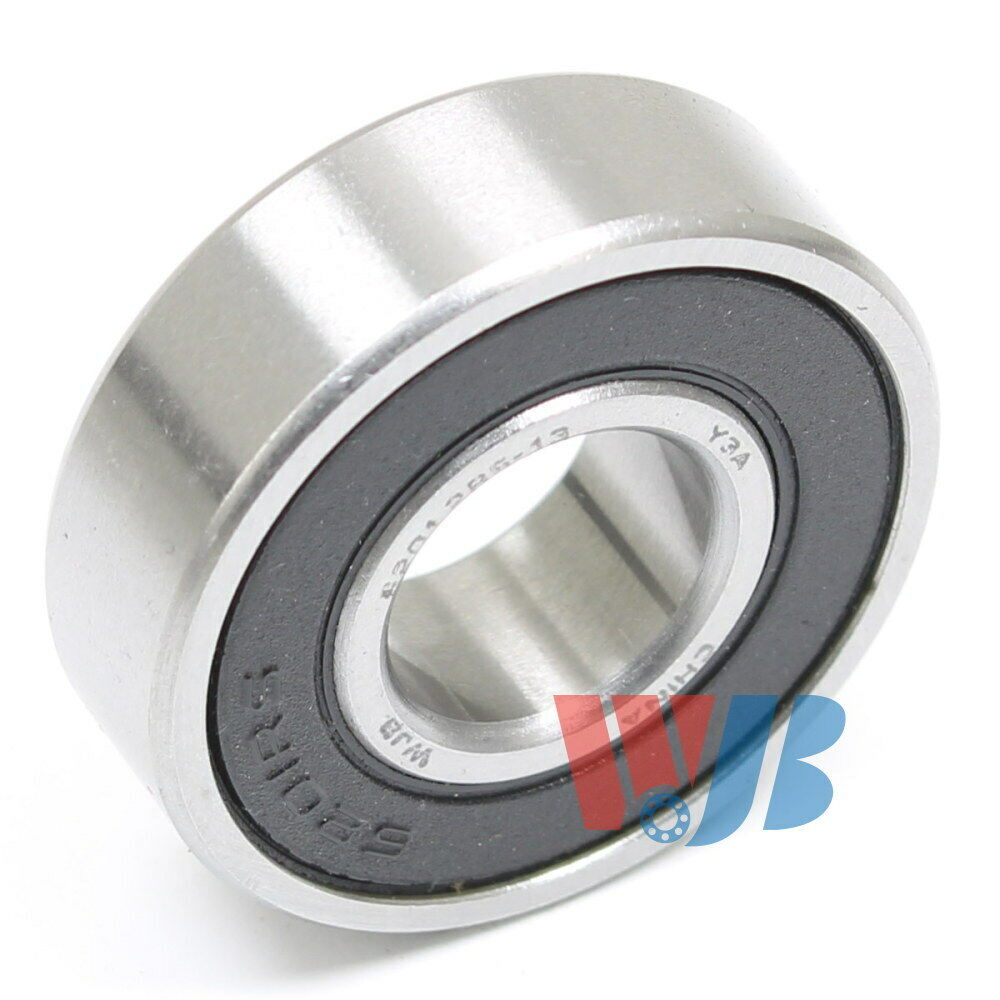 Set of 10 RADIAL BALL BEARING 6201-2RS-13MM WITH 2 RUBBER SEALS 13mm BORE