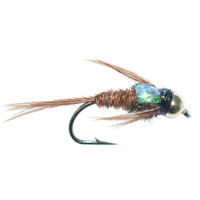 DRY FLIES TROUT NYMPHS 1 DZ Q-6 PHEASANT TAIL CHALLENGED #12