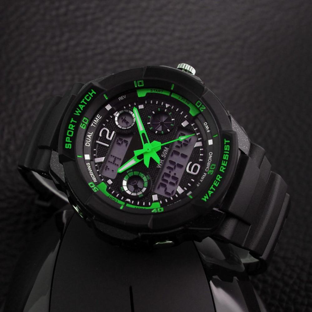 LED Digital Kinder Jungen Uhren Armband Uhr Elektronisch Sportuhr Silikon Alarm