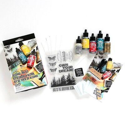 TIM HOLTZ ALCOHOL INK KIT INKS METALLIC MIXATIVE STAMP BLENDING TDK48213 NEW!!