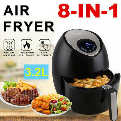 Laptronix 5L Electric Air Fryer Low Fat Healthy Cooker Oil Free Chip Frying Oven