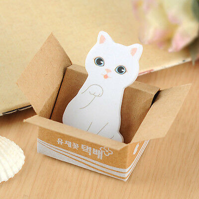 Cute Cat Dog Sticky Memo Notepad Cartoon Animal Post-it Sticker Bookmark Notes