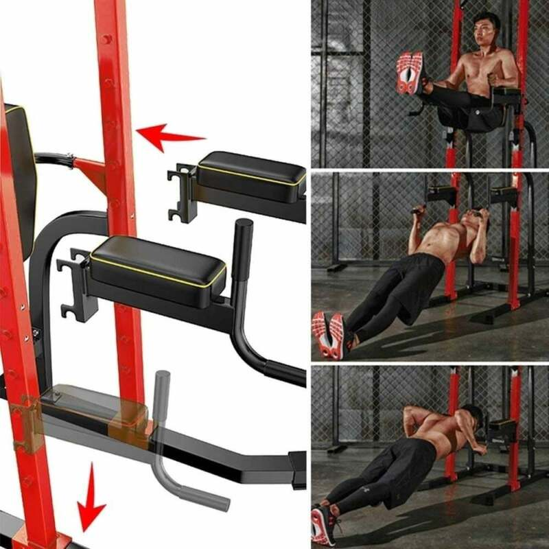 Zenova Power Tower Pull-Up Bars Workout Dip Stands Strength