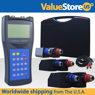 Ultrasonic Flow Meter With Transducers Portable Flowmeter Usf-100 Sml