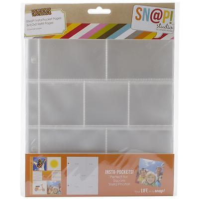 Scrapbooking Crafts Simple Stories SNAP 6X8 Binder Refill Pages 2X2 3X3 10/PK