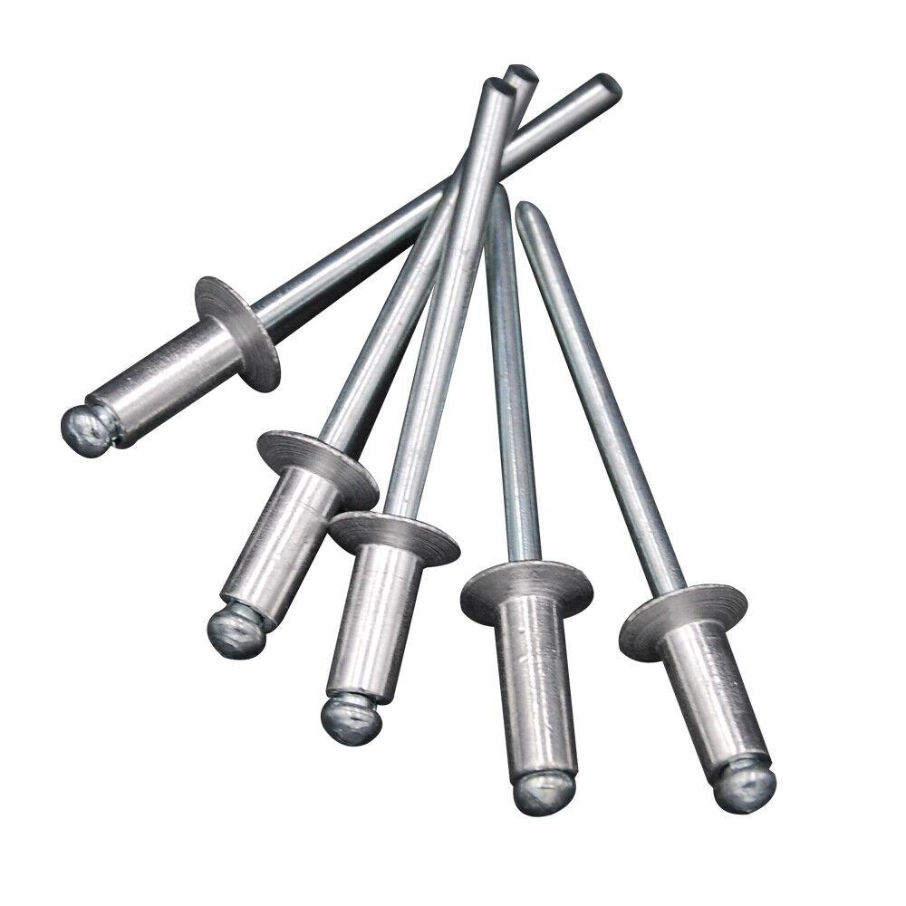 """100pcs 1//8/"""" M3.2 Diameter Aluminum Open End Countersunk Blind Pop Rivets ISO"""